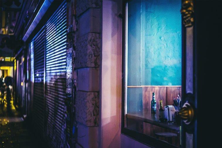 hamburg nocu fotografija prozor flase