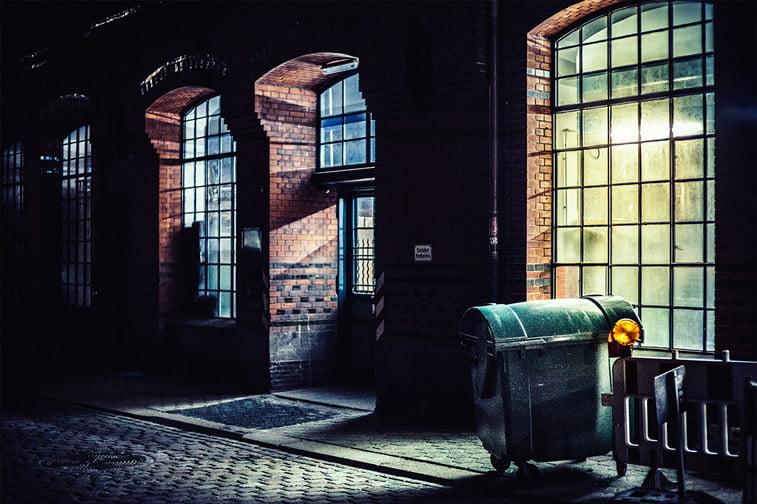 hamburg nocu fotografija prozori kontejner