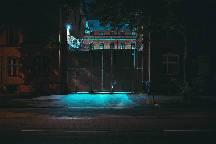 hamburg nocu fotografija kapija