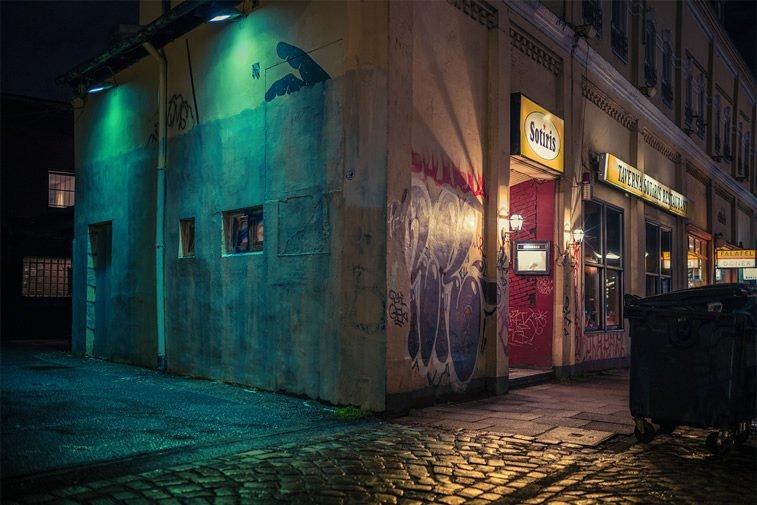 hamburg nocu fotografija market na uglu