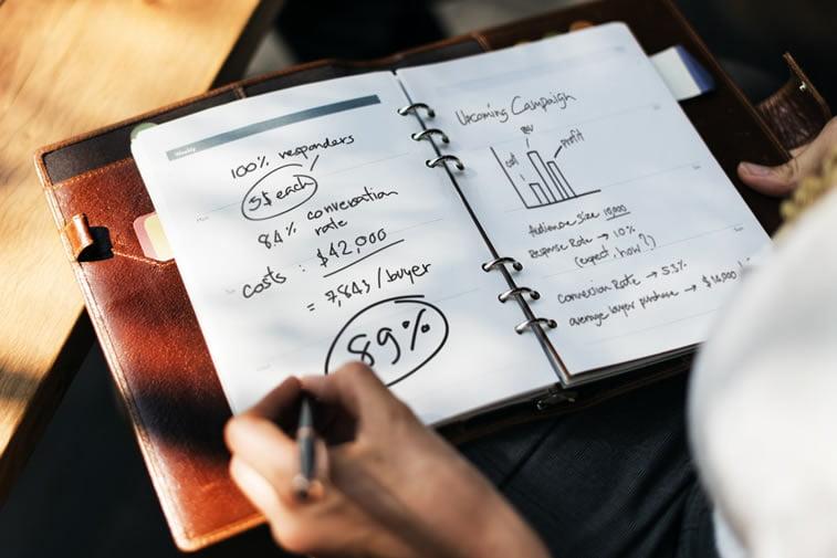campaign planing handwritten statistics