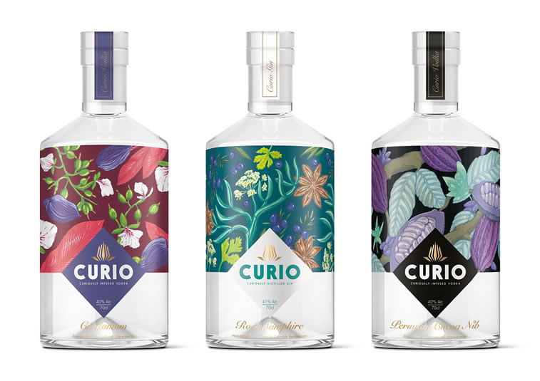 curio spirits label design 1