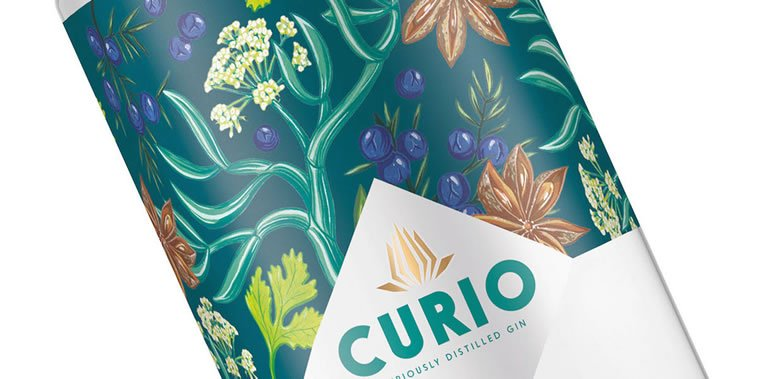 curio spirits label design 2