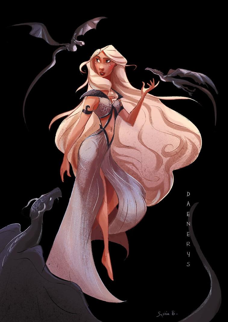 daenerys targaryen illustration game of thrones character