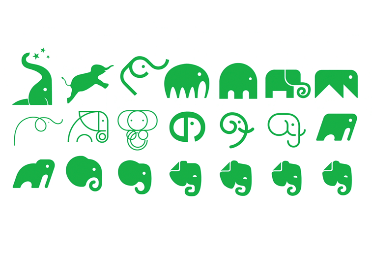 evernote logo redizajn 2018. ikonica slon