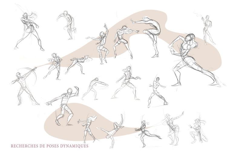 istrazivanje ljudskog pokreta skice za animaciju