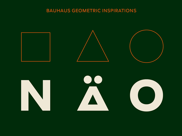 meister font jagermeister tipografija bauhaus geometrija