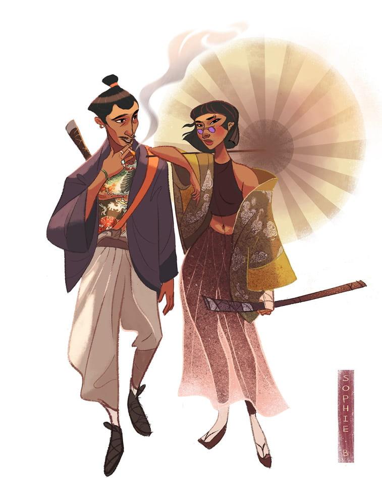ilustrovani likovi borilacke vestine daleki istok