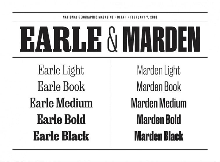 nat geo magazine redizajn tipografija earle marden font