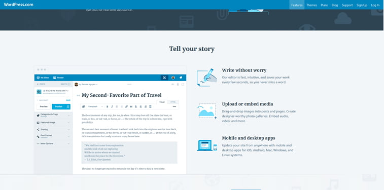 travel blog back-end wordpress cms example