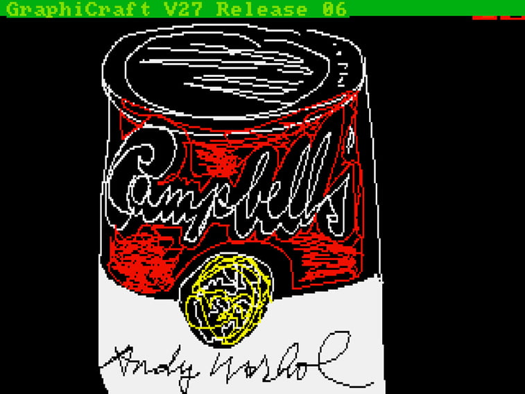 andy warhol digital art campbell's soup can
