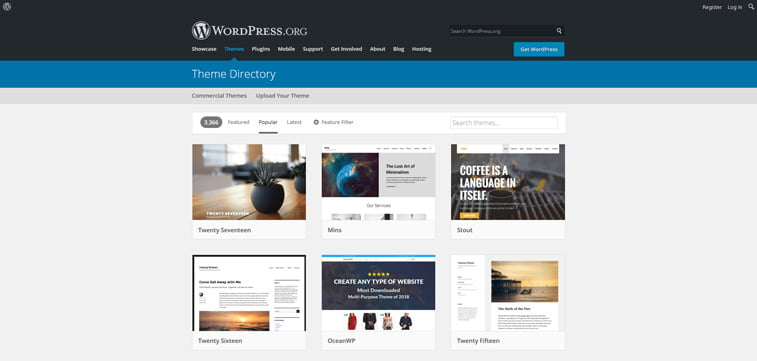 wordpress theme directory