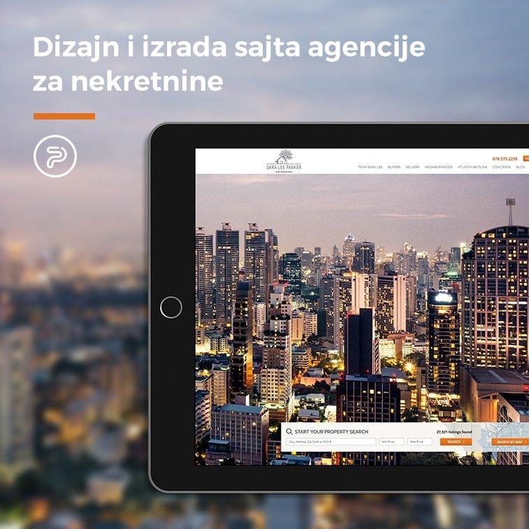 Dizajn i izrada sajta agencije za nekretnine