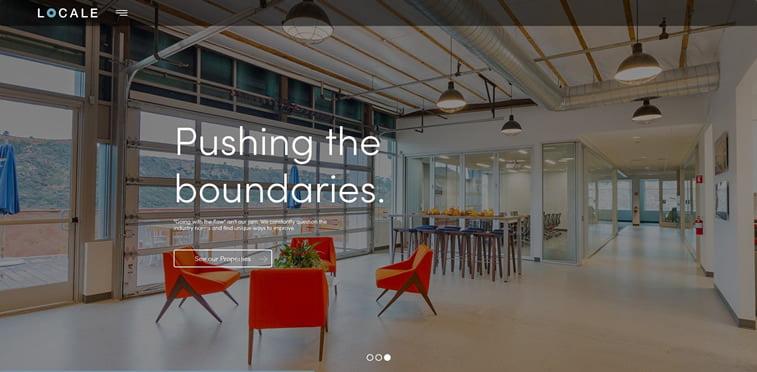 locale nekretnine web dizajn