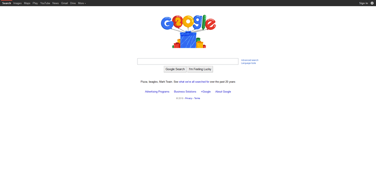 google 20 years google birthday google doodle