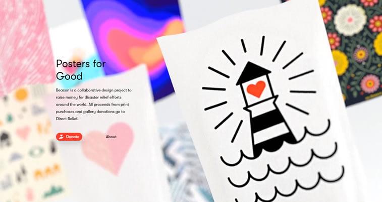 ilustracije rukom crtani svetionik posteri veb dizajn