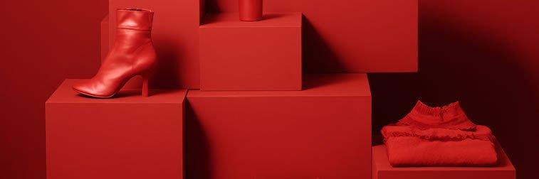 web dizajn monohromatski sajt crvena boja senke