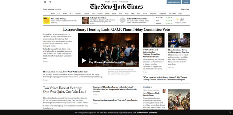the new york times 2018 web sajt
