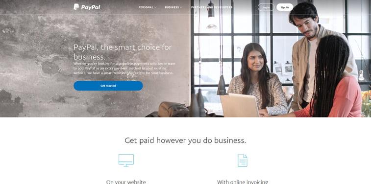 paypal screenshot web sajt 2018