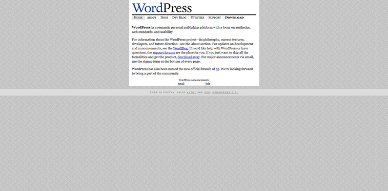 wordpress.org web sajt 2003