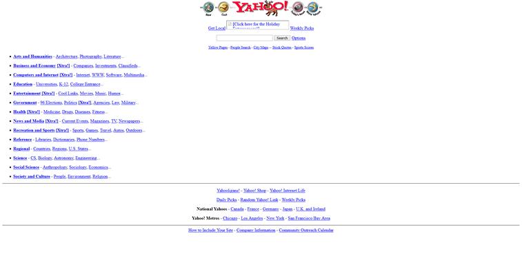 yahoo web sajt 1994