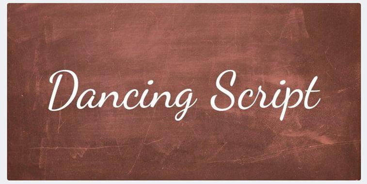 dancing script free font handwritten