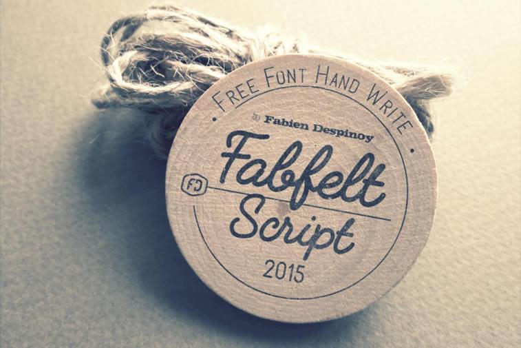 fabfelt script font by fabien despinoy handwritten