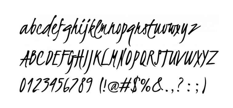 kristi script font preview letters numbers