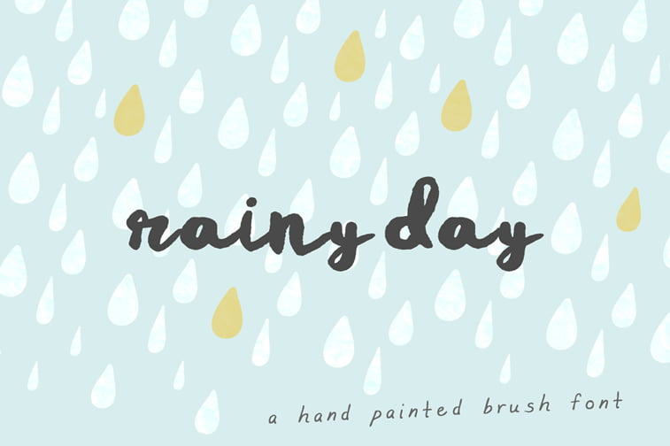 rainy day script font hand painted