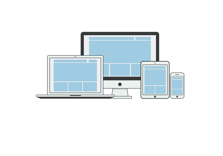 repsonsive design on different screen sizes