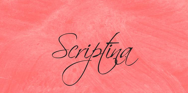 scriptina free script font