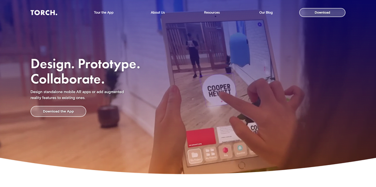 torch veb alat prototip AR dizajn tablet
