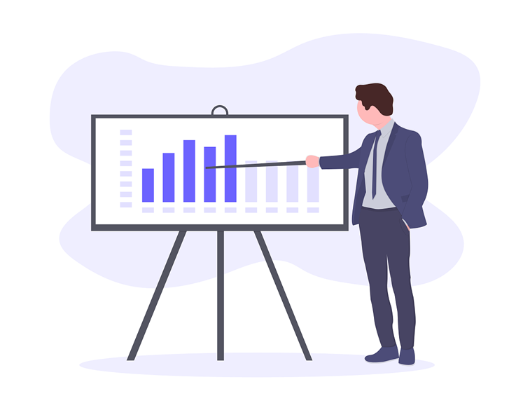 biznis plan statistika grafikon prezentacija