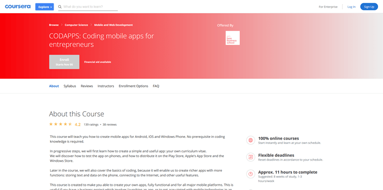 CODAPPS online course coding apps for entrepreneurs