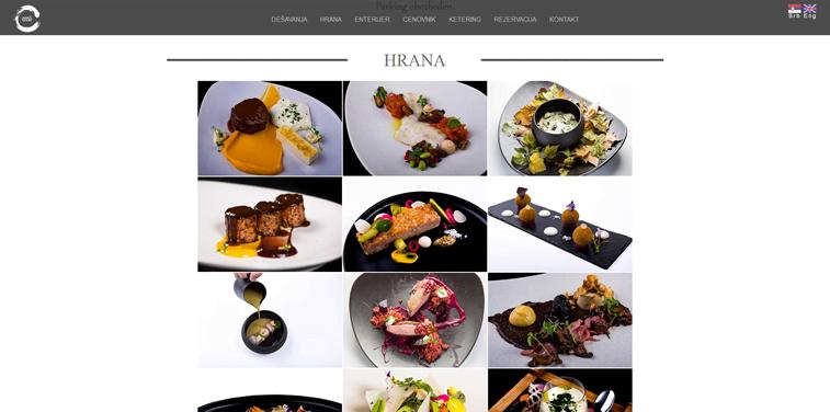 restoran enso hrana slike meni web dizajn sajt restorana