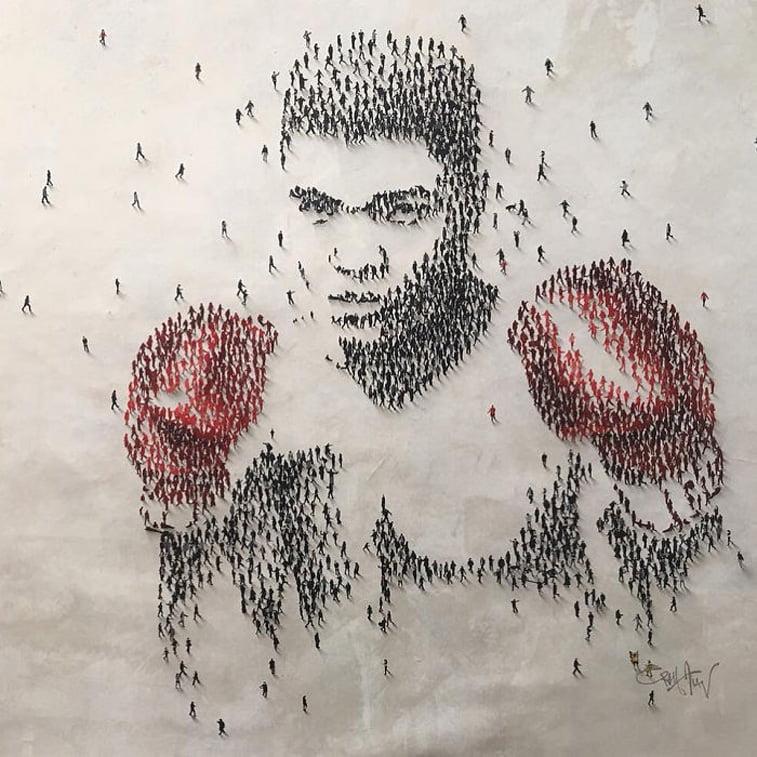 Muhammad Ali portrait boxer
