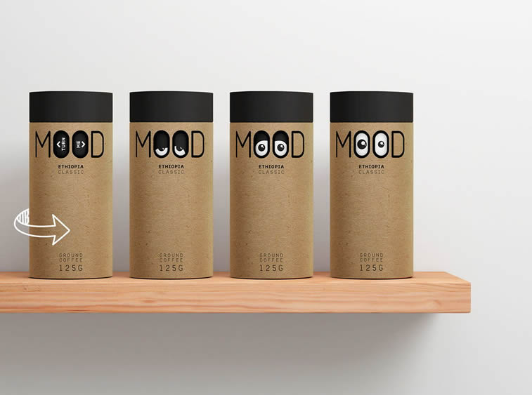 mood coffe packagind design concept