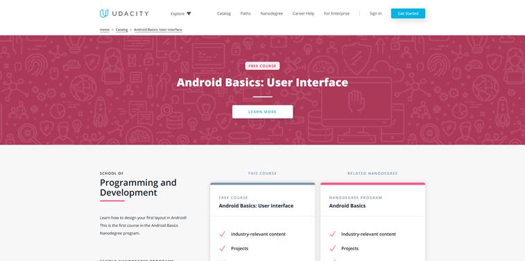 Free online courses for mobile app development