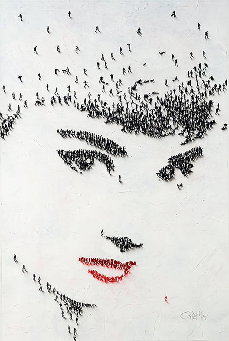 Audrey Hepburn portrait populus series