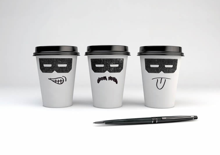 bandido coffee cups packaging