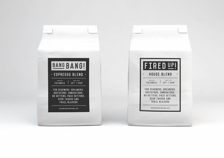 bandido coffee packaging design