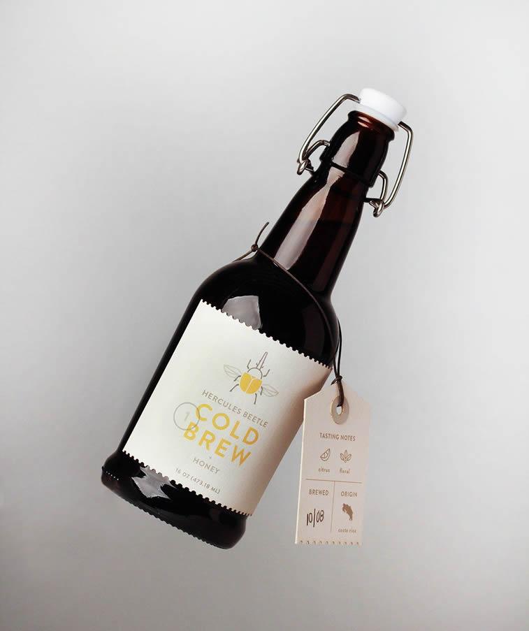cold brew coffee design bottle concept