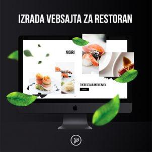 Izrada web sajta za restorane i kafiće