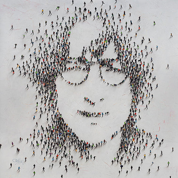 john lennon portrait in populus series