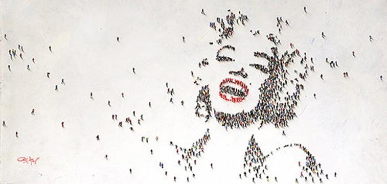 marilyn monroe portrait populus series