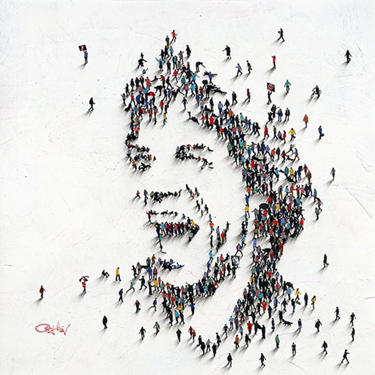 mick jagger smiling portrait by craig alan