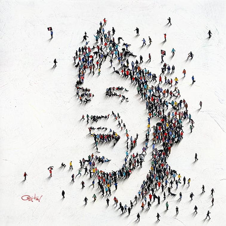 mick jagger smiling portrait by craig alan