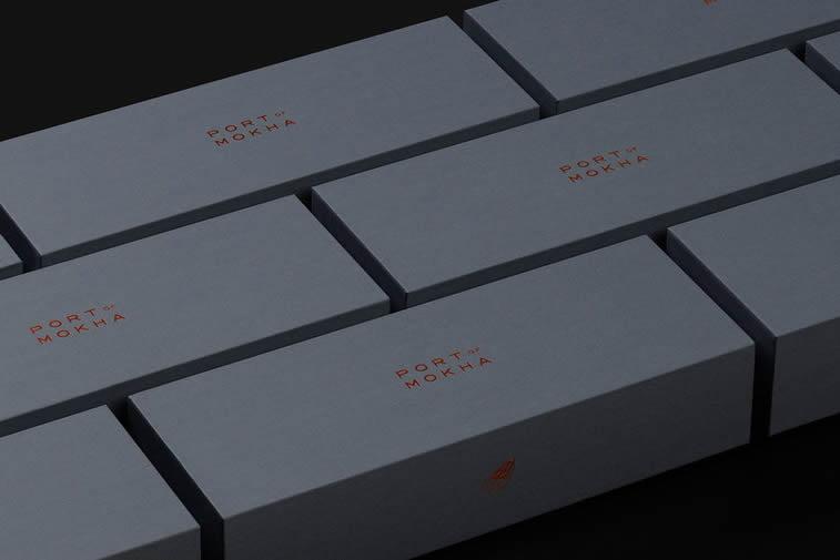 port mokha elegant coffee packaging design