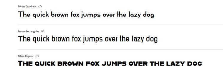 rekreirani bauhaus fontovi prikaz teksta