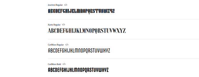 slova alphabet bauhaus fonts